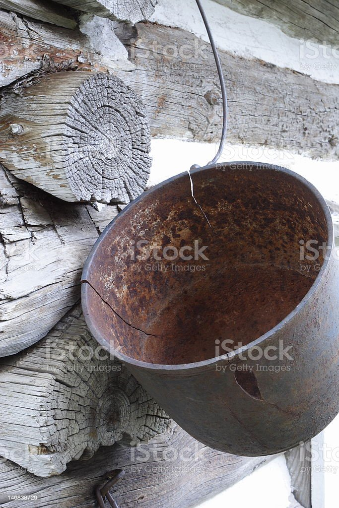 OLD METAL BUCKET royalty-free stock photo