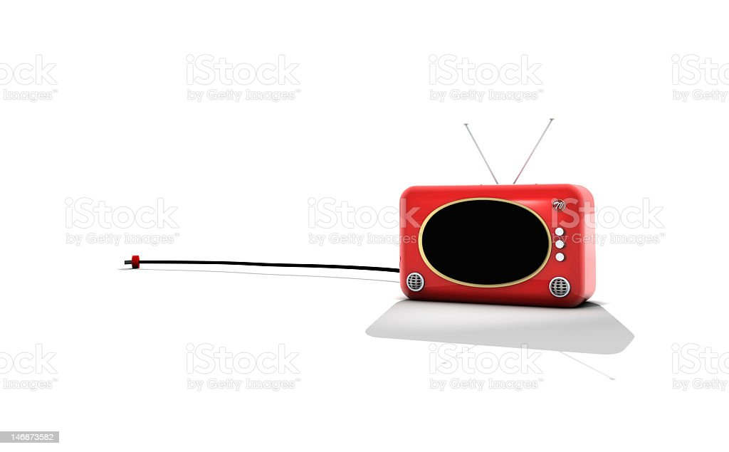 RED TV stock photo