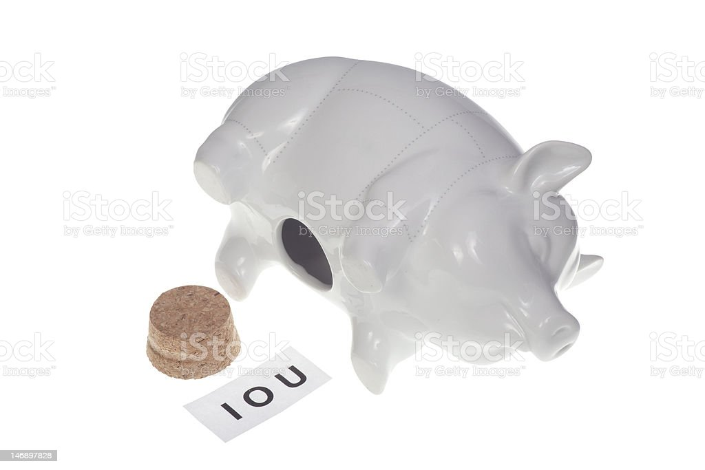 IOU royalty-free stock photo