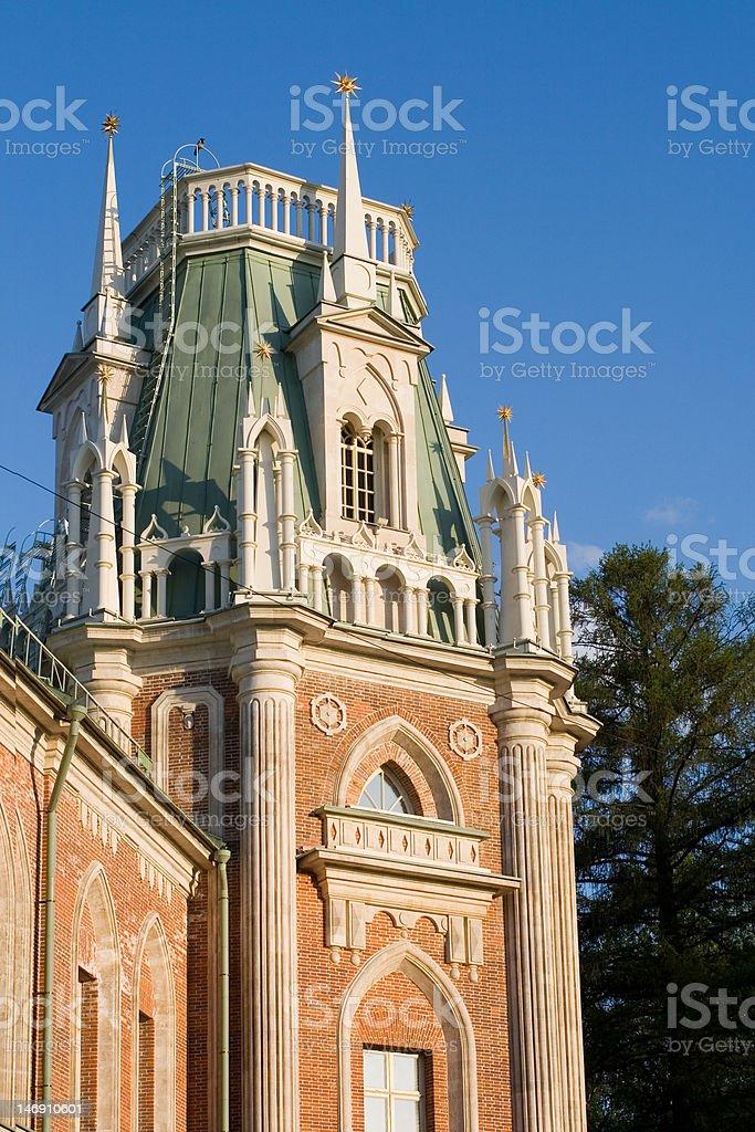 Башня Большого дворца музея-заповедника royalty-free stock photo
