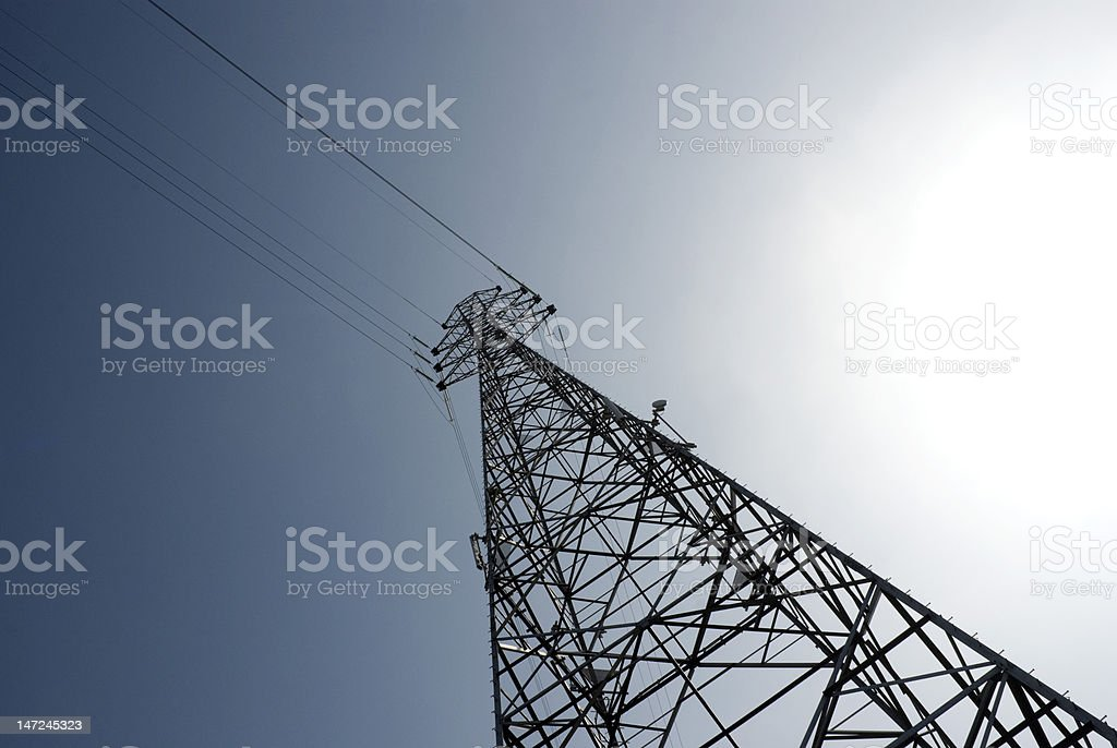 ELECTRICAL PYLONS royalty-free stock photo