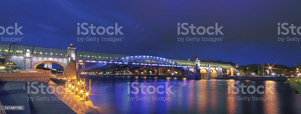 ??????, ?????????? ?????????? ???? (Pushkinsky Pedestrian Bridge) stock photo