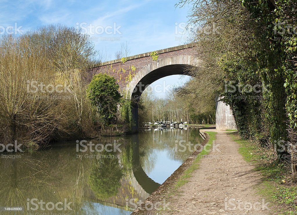 CANAL VIADUCT AND LOCK stock photo