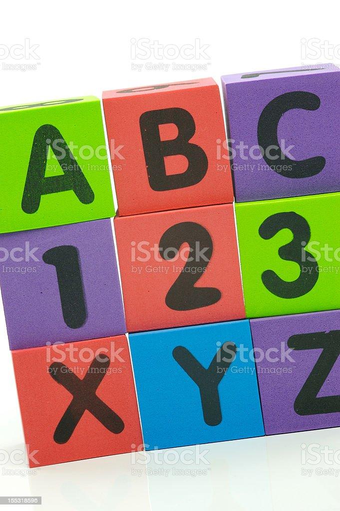 ABC 123 XYZ royalty-free stock photo