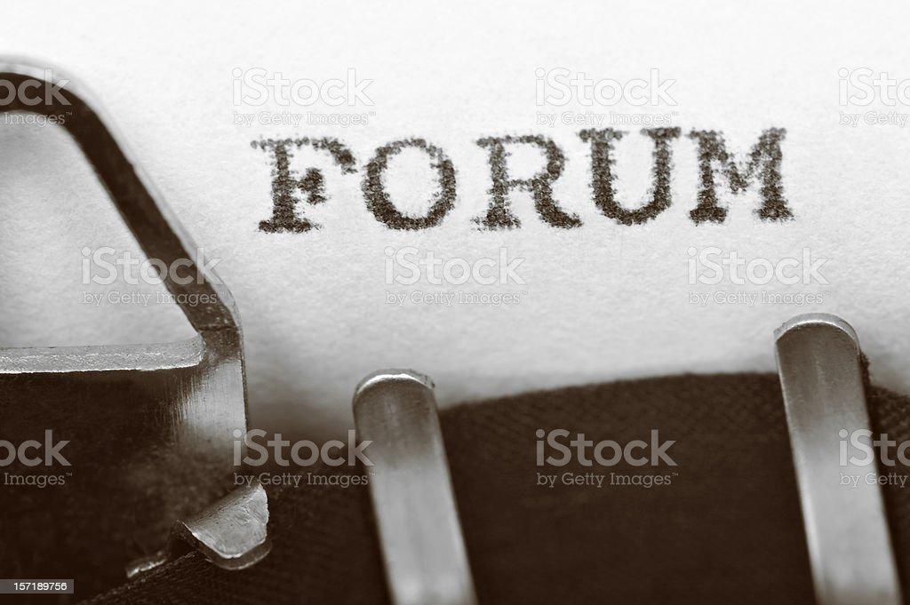 FORUM royalty-free stock photo