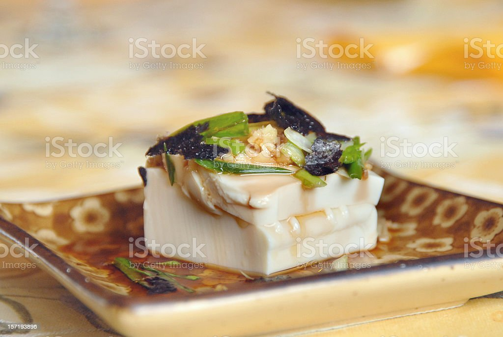 TOFU SALAD royalty-free stock photo