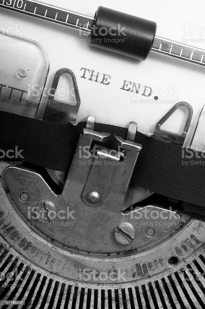 THE END. royalty-free stock photo