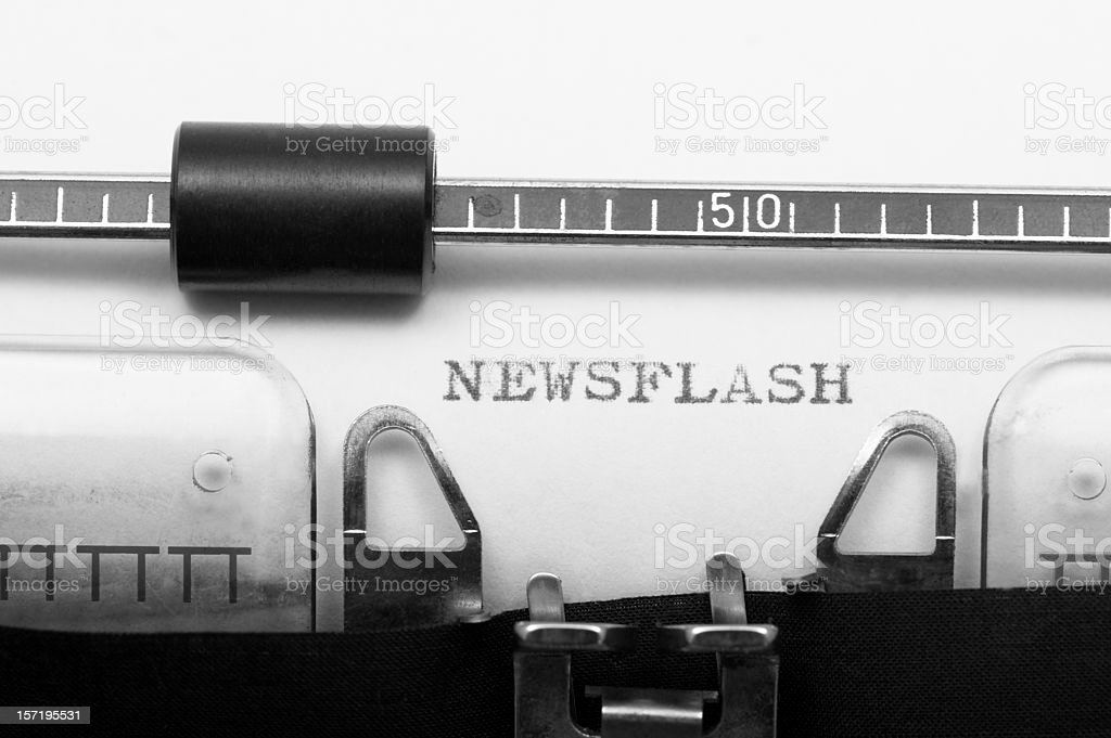 NEWSFLASH royalty-free stock photo