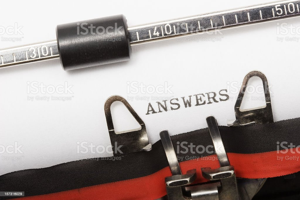 ANSWERS royalty-free stock photo