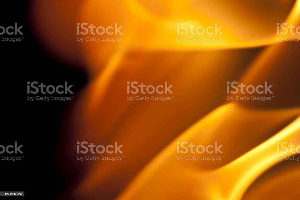 fire burning, flames on black background royalty-free stock photo
