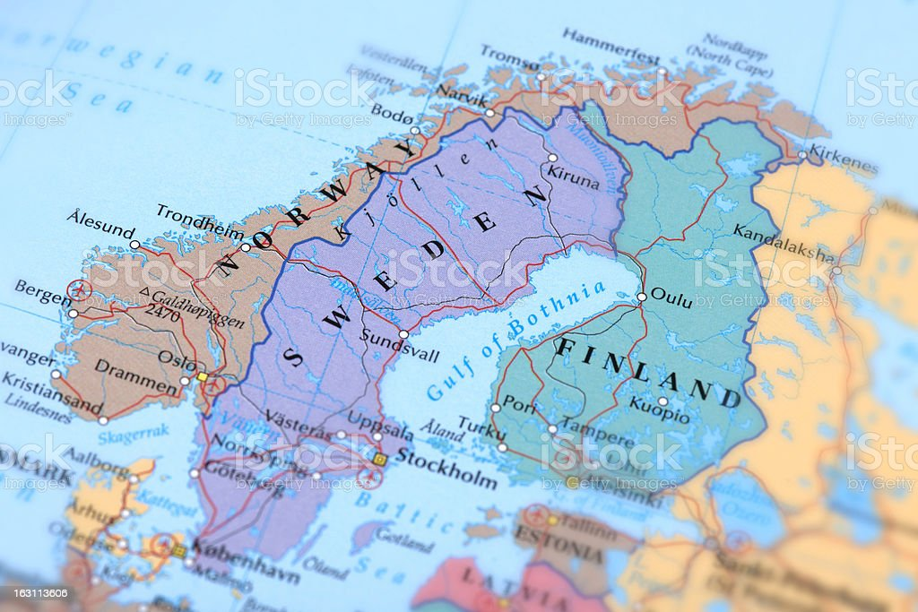 SWEDEN, NORWAY, FINLAND stock photo