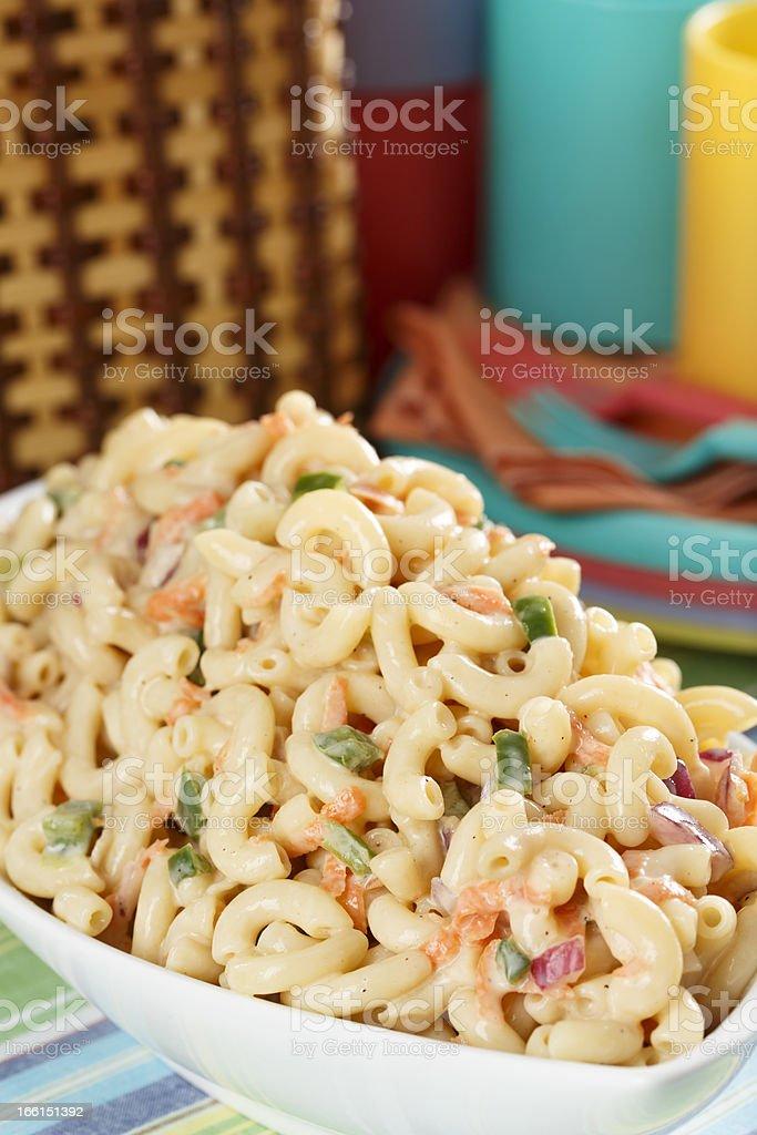 SWEET MACARONI SALAD stock photo