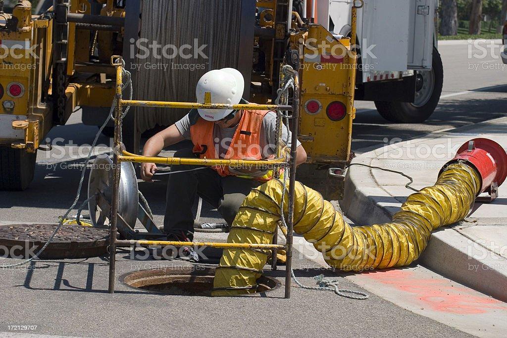 UTILITY WORKER stock photo