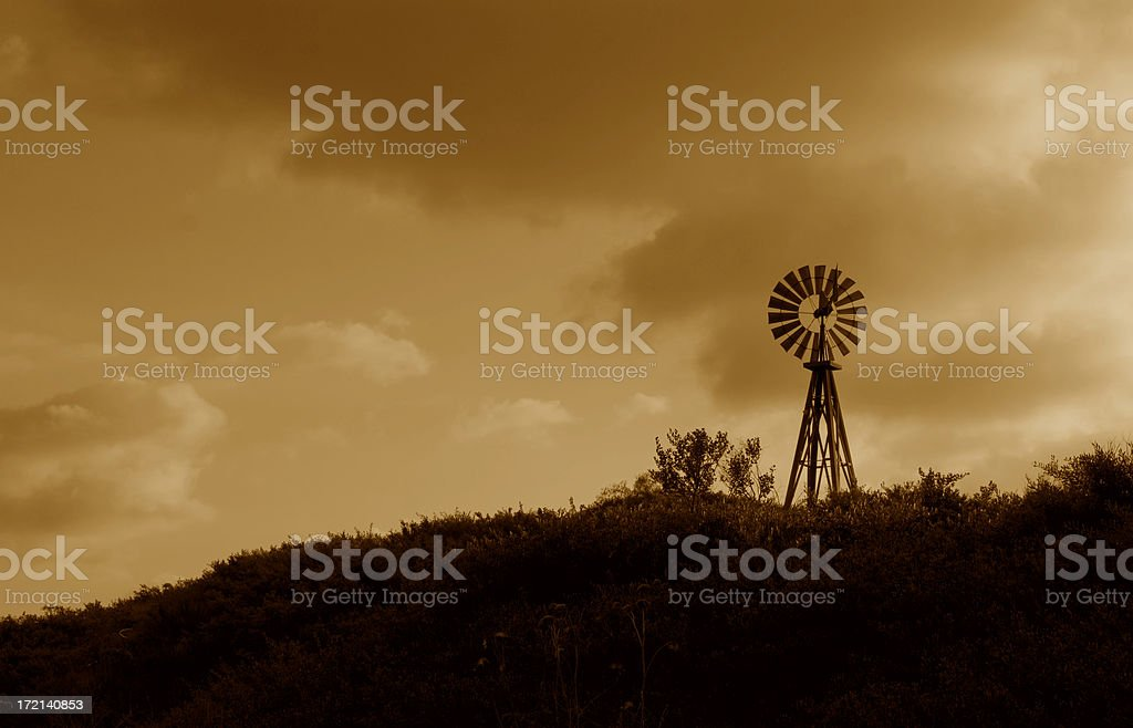 WINDMILL ON A HILL #1 royalty-free stock photo