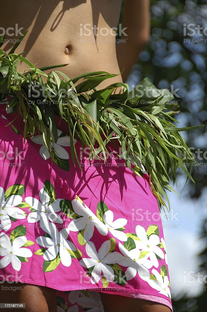 PACIFIC ISLAND GIRL BELLY BUTTON royalty-free stock photo