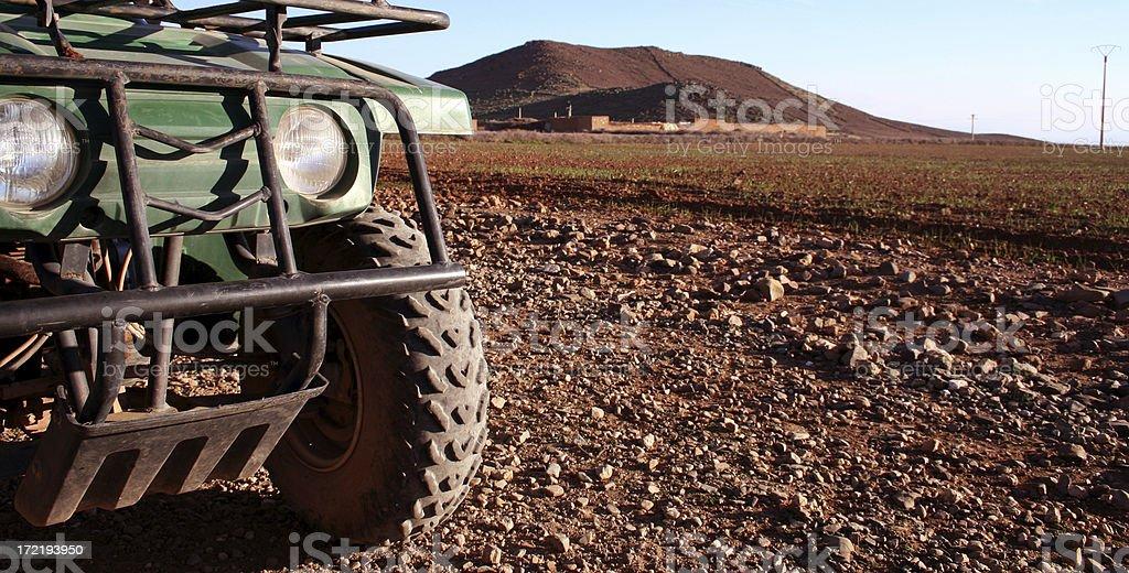 ATV IN THE DESERT royalty-free stock photo