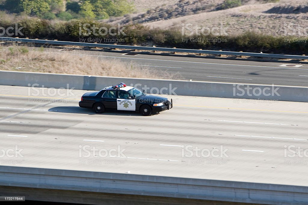 HIGHWAY PATROL stock photo