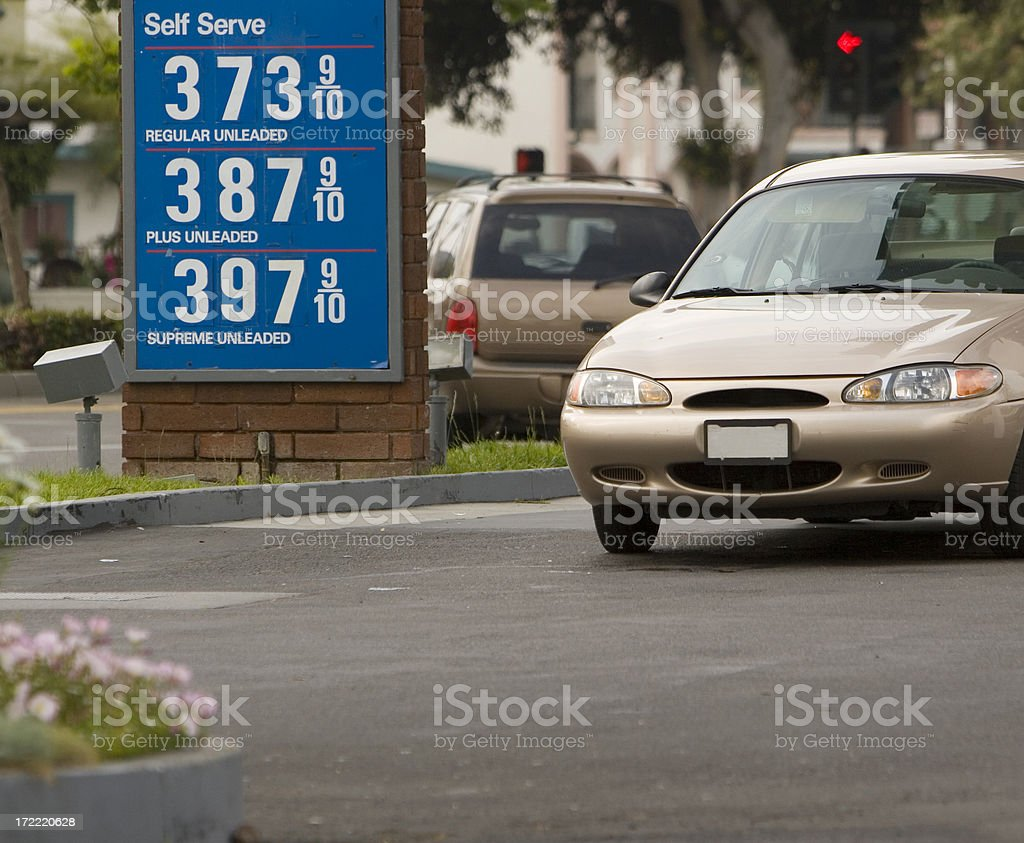 GAS SIGN stock photo