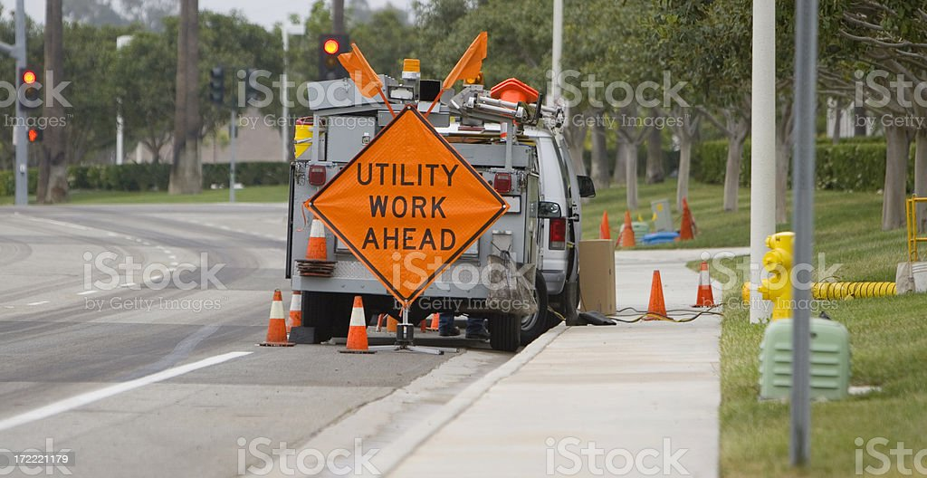 UTILITY CREW royalty-free stock photo