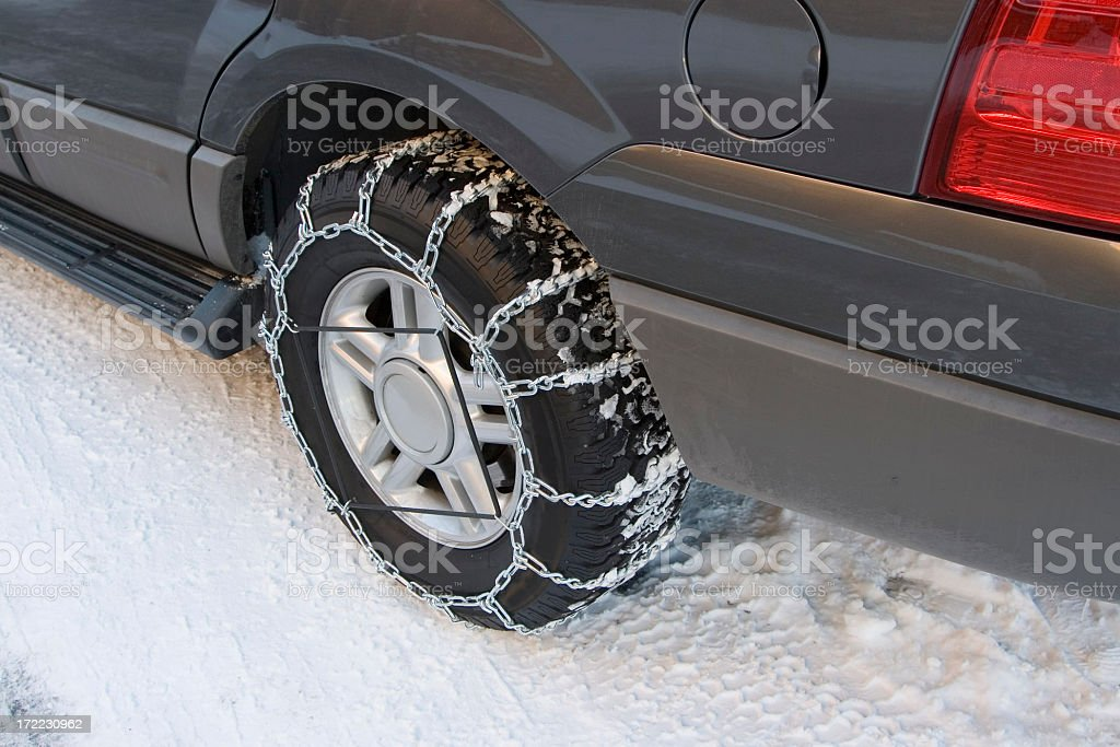 SNOW CHAINS stock photo