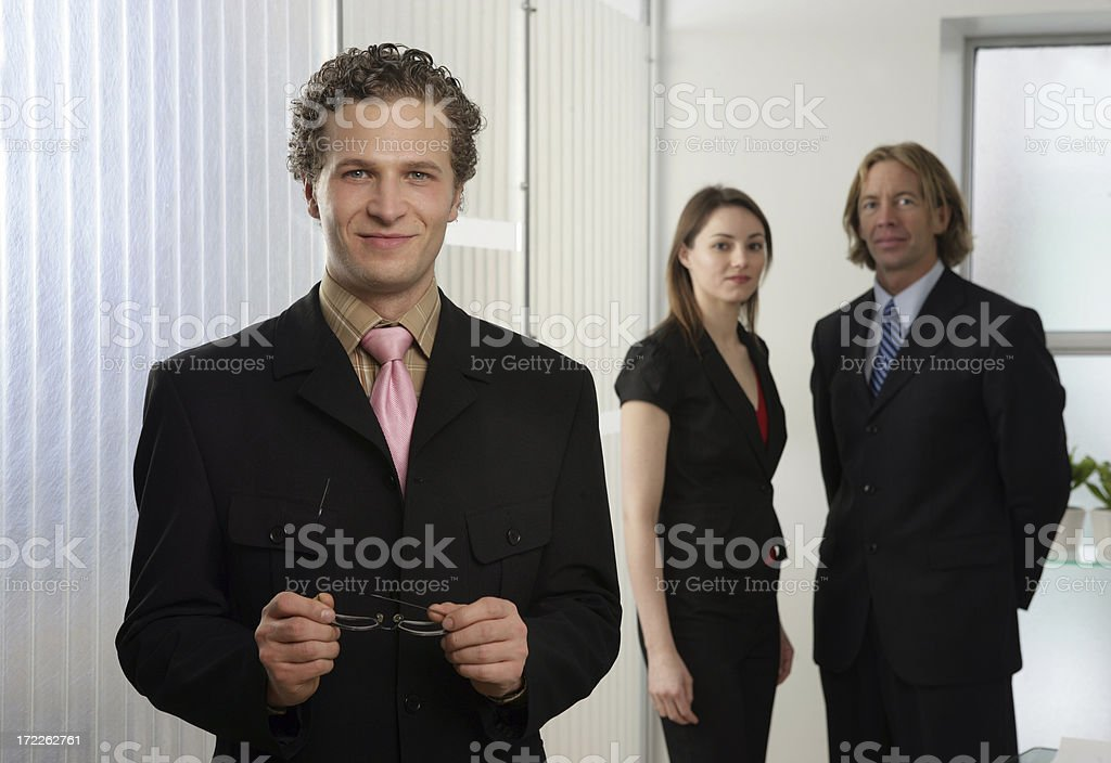 TEAM AT WORK royalty-free stock photo