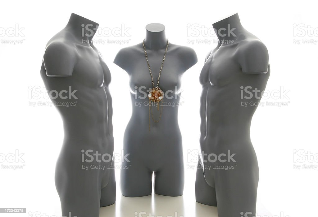 TWO GUYS AND A GIRL royalty-free stock photo
