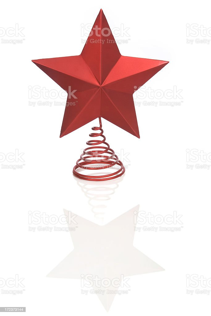CHRISTMAS STAR (vertical) royalty-free stock photo