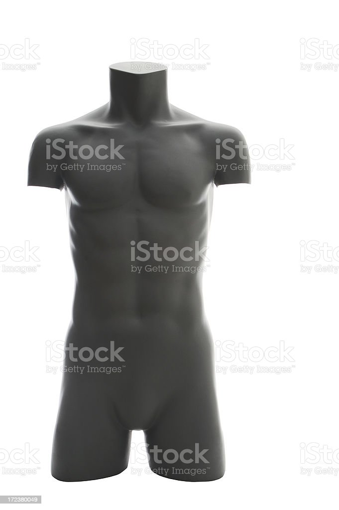 GREY MALE MANNEQUIN royalty-free stock photo