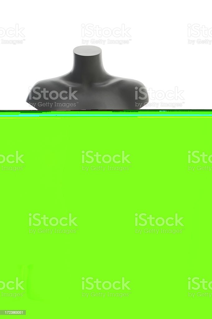 FEMALE GREY MANNEQUIN royalty-free stock photo