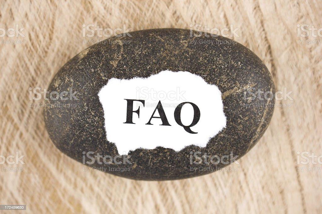 FAQ royalty-free stock photo
