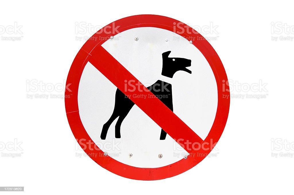 NO DOGS PLEASE stock photo