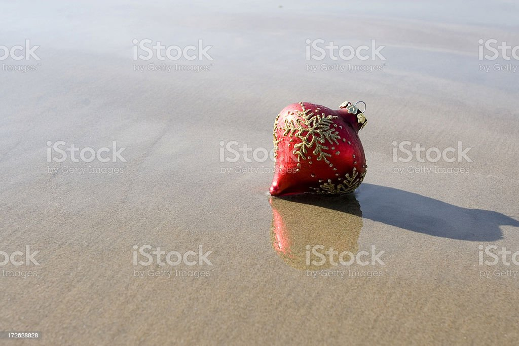 ORNAMENT ON BEACH stock photo