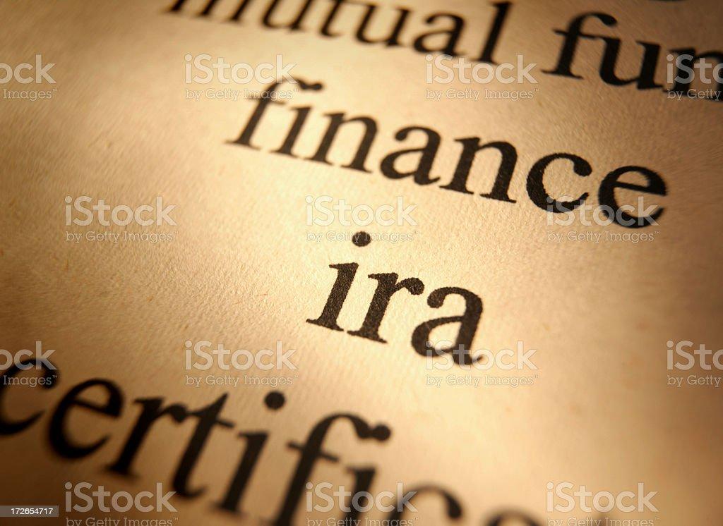 IRA royalty-free stock photo