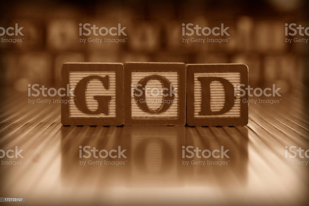 GOD (#2 of series) royalty-free stock photo