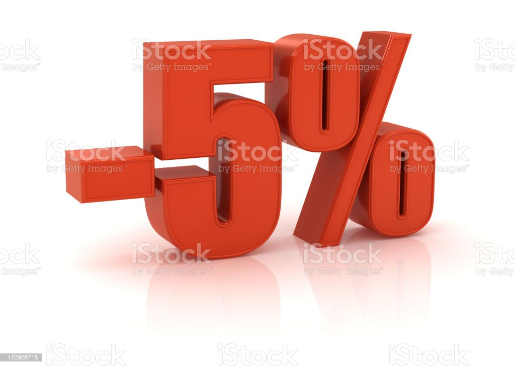 -5% royalty-free stock photo