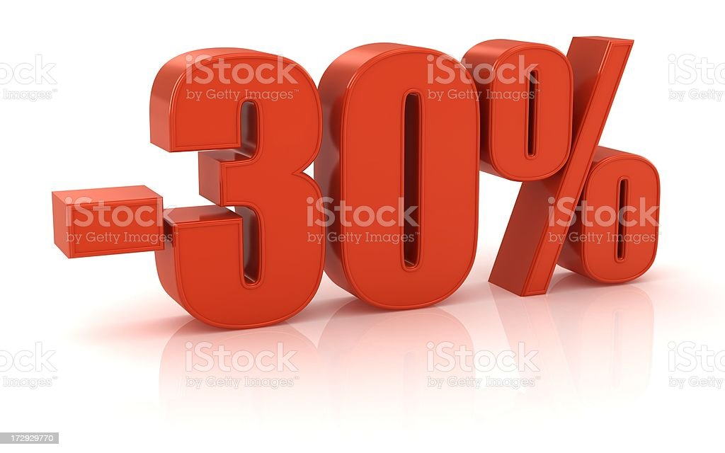 -30% royalty-free stock photo