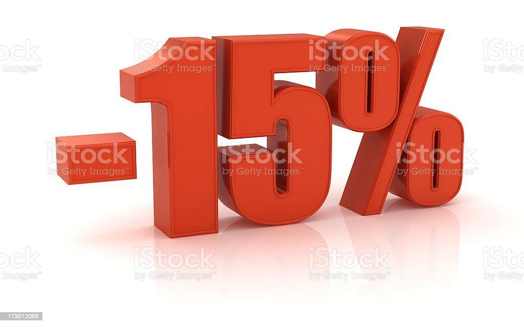 -15% royalty-free stock photo
