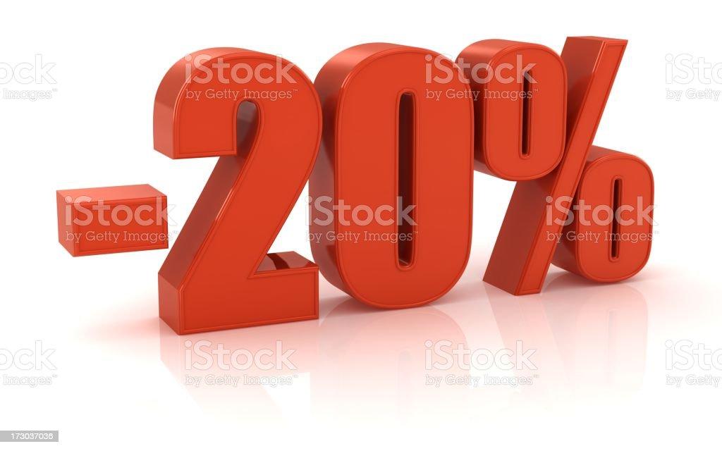 -20% royalty-free stock photo
