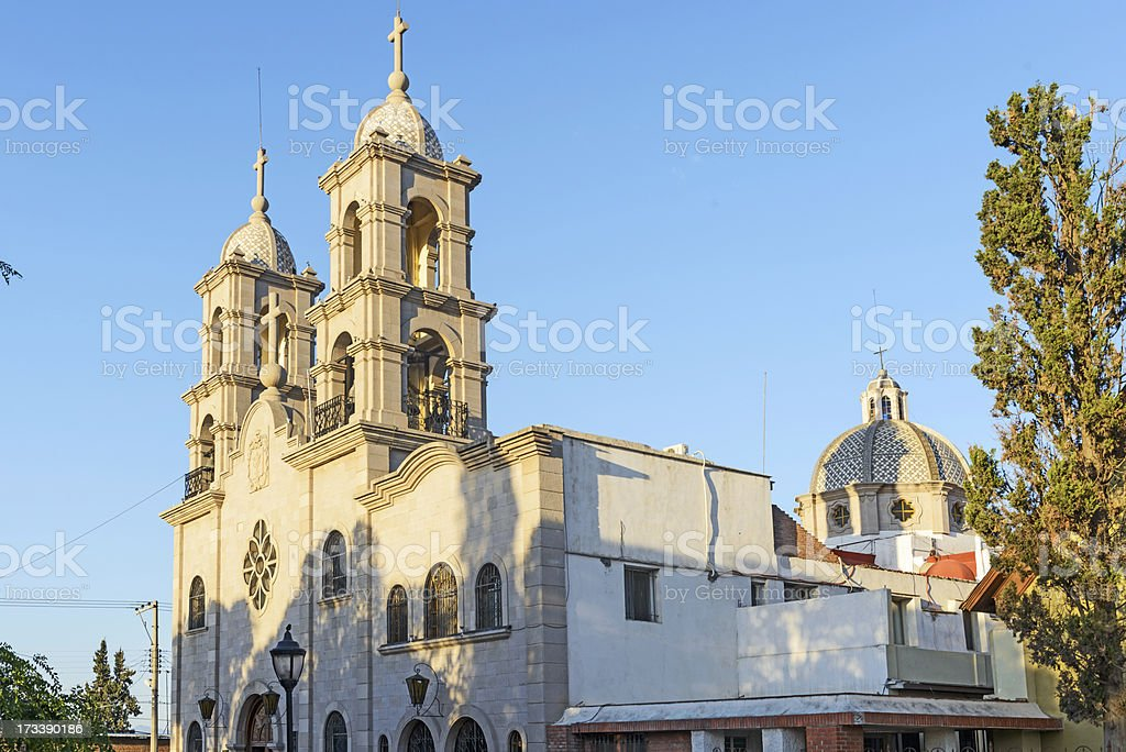 TEMPLE SAINT FRANCIS OF ASSISI IN SALTILLO, MEXICO stock photo