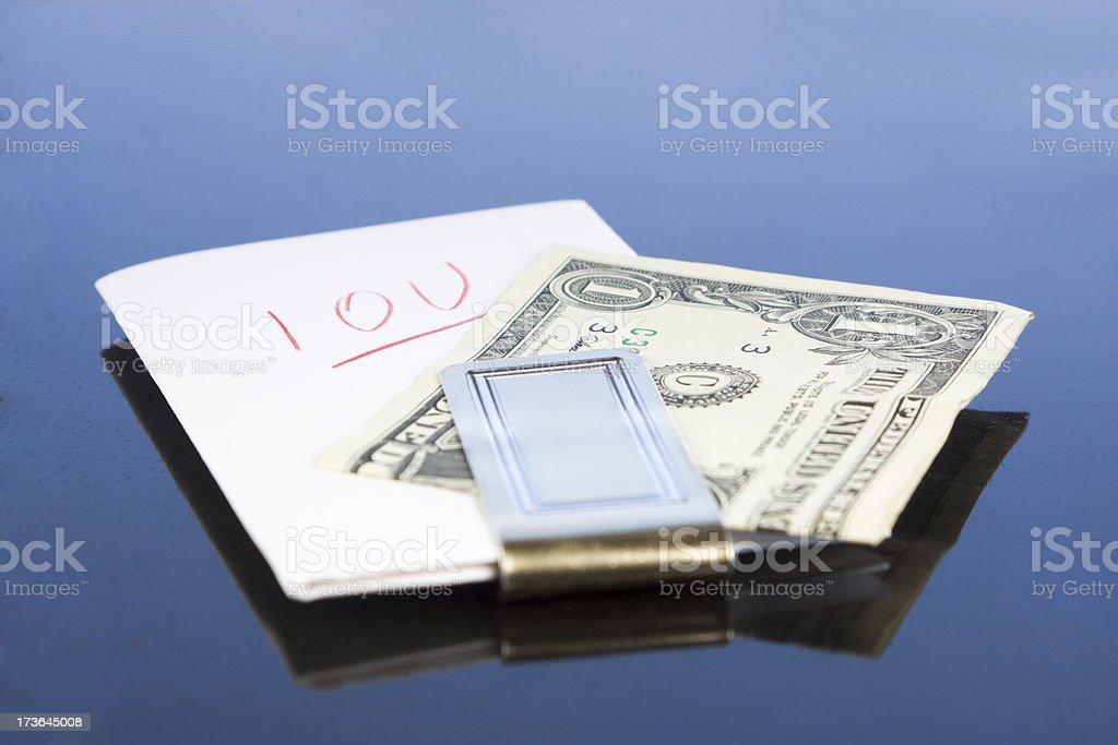 IOU royalty-free stock photo