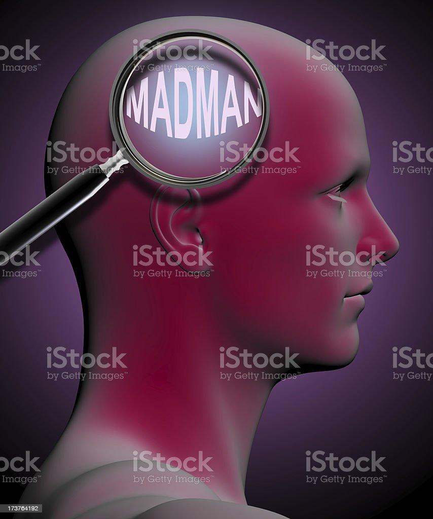 MADMAN royalty-free stock photo