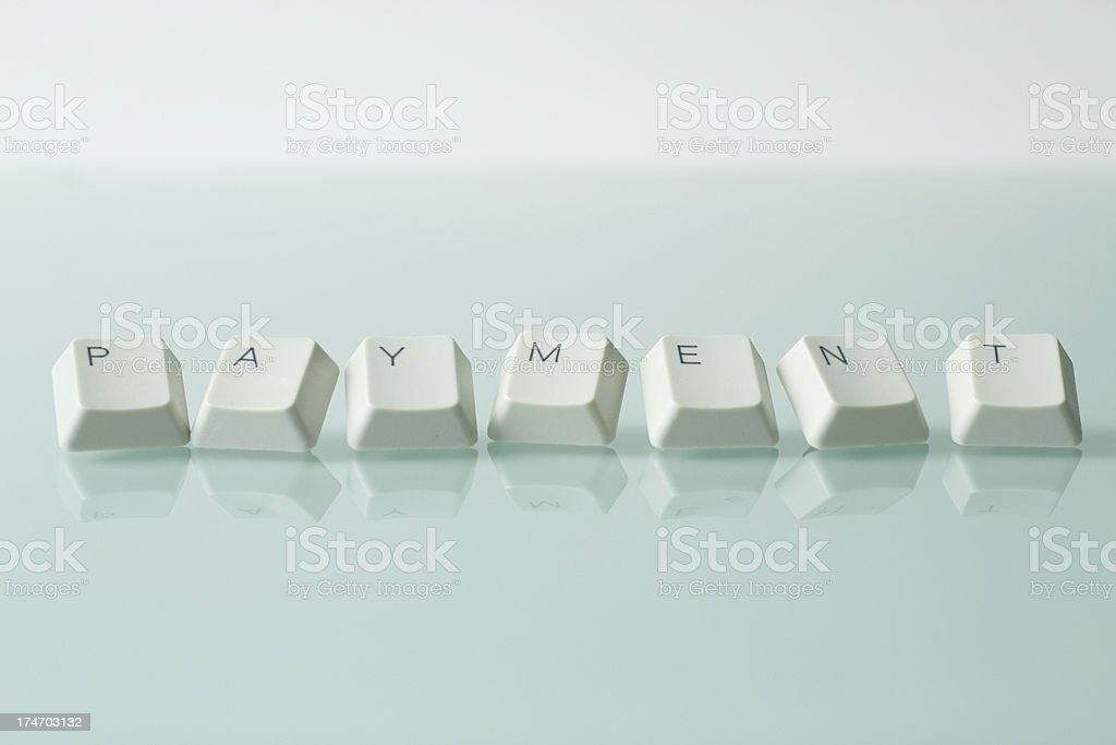 PAYMENT WORD royalty-free stock photo