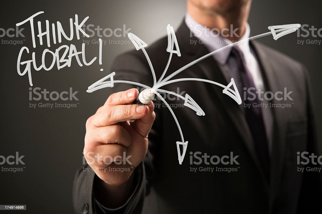 THINK GLOBAL royalty-free stock photo