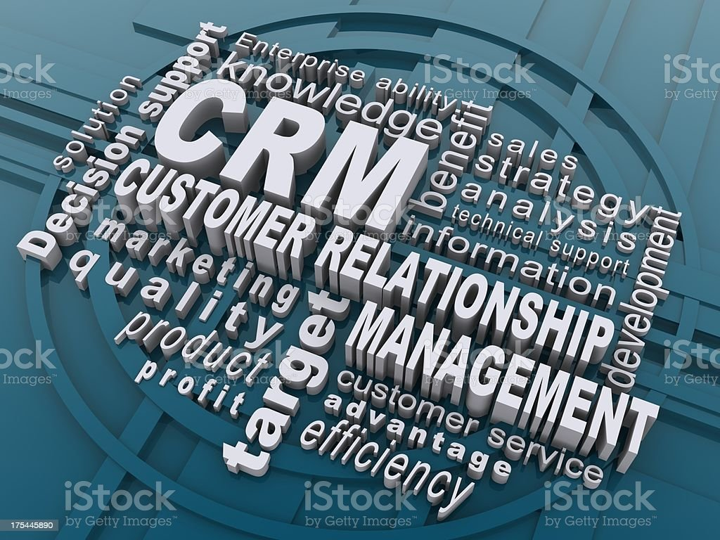 CRM royalty-free stock photo
