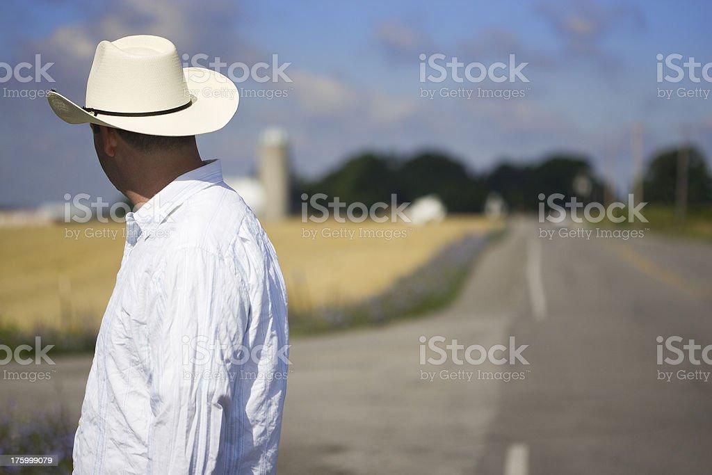 LONE COWBOY I royalty-free stock photo
