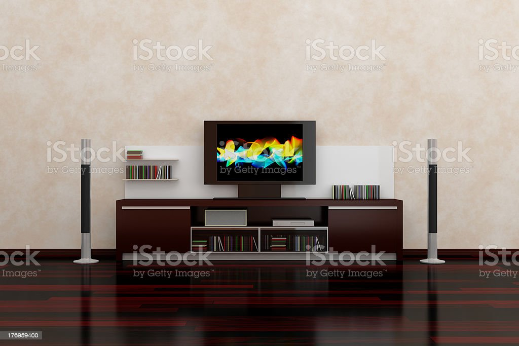 LCD TV royalty-free stock photo