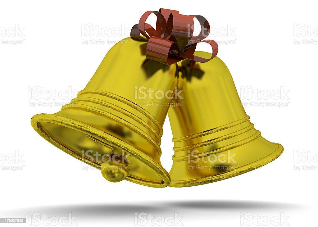 GOLDEN BELLS - 3D royalty-free stock photo