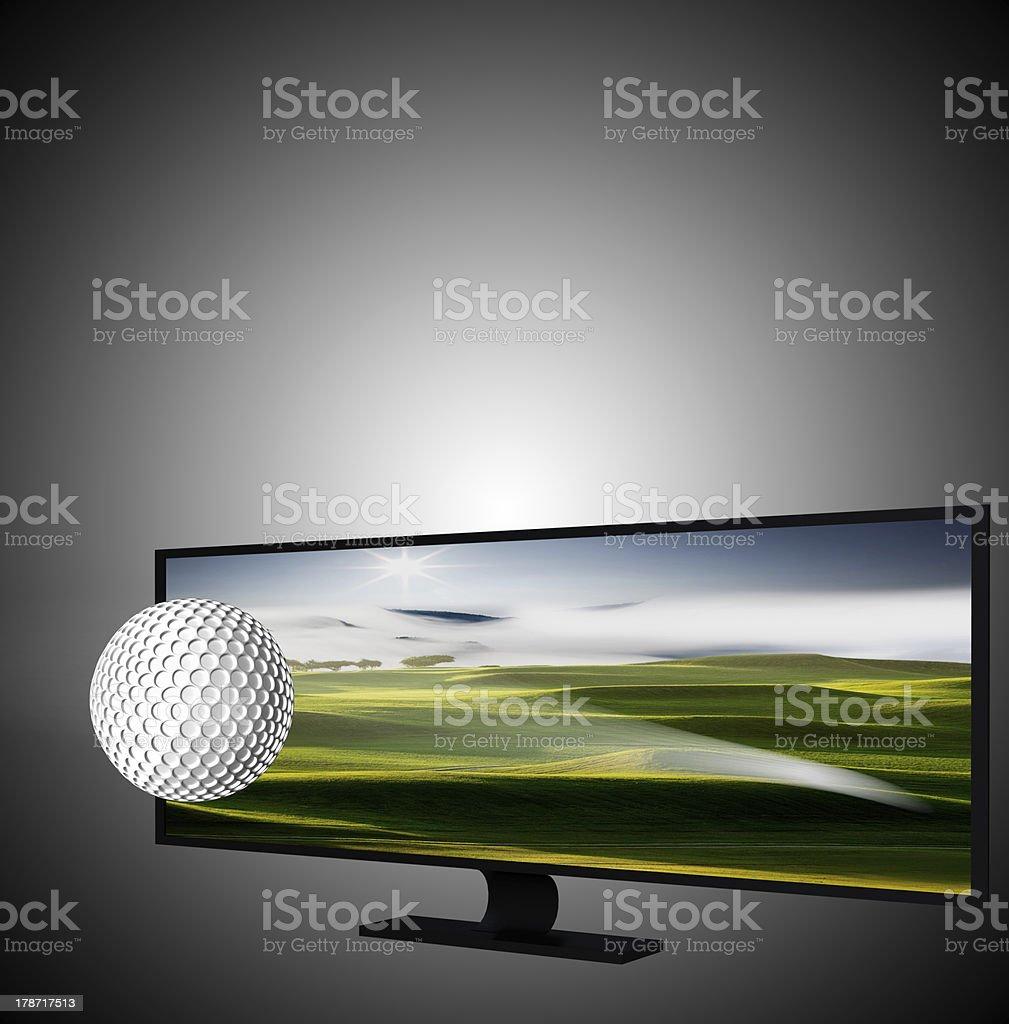 3D TV royalty-free stock photo
