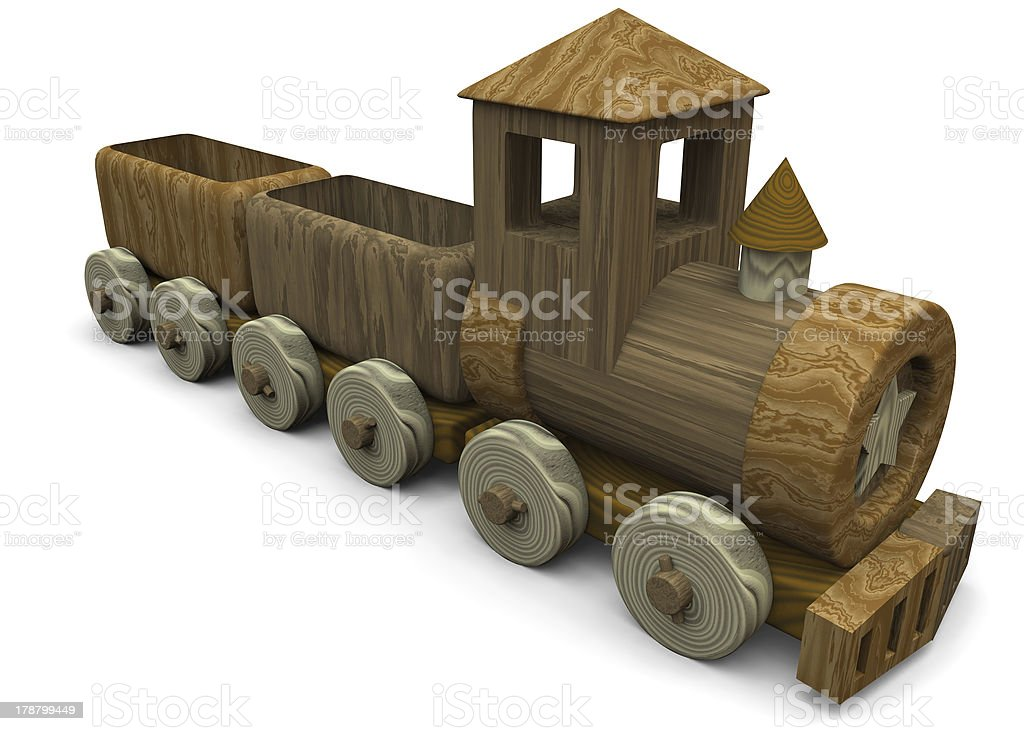 LITTLE TRAIN TOY - 3D royalty-free stock photo