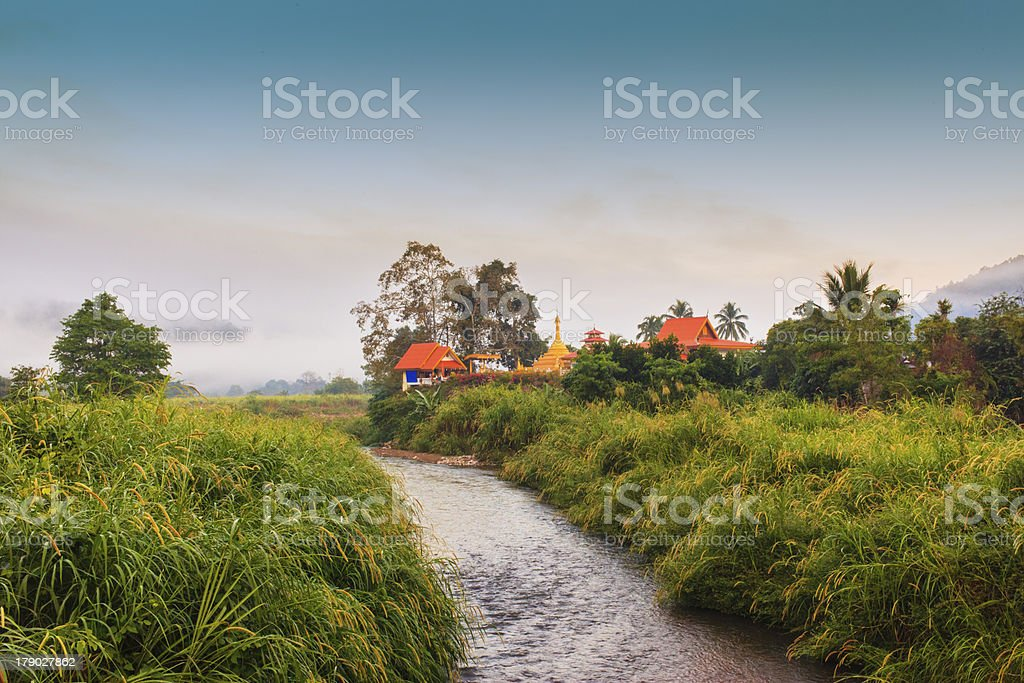 CHURCH IN MEAHONSON THAILAND royalty-free stock photo